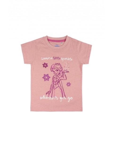 T-shirt dziewczęcy Frozen różowy