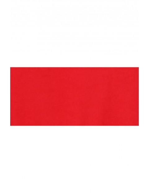 Casualowa sukienka z wiązaniem w pasie i z dekoltem na plecach  w kolorze czerwonym