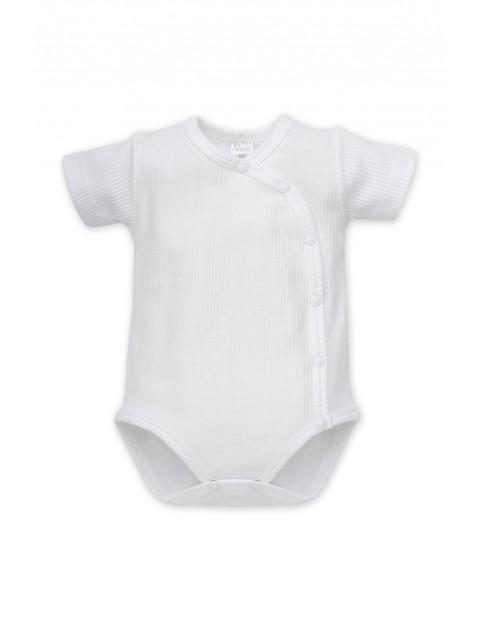 Body kopertowe niemowlęce z krótkim rękawem białe