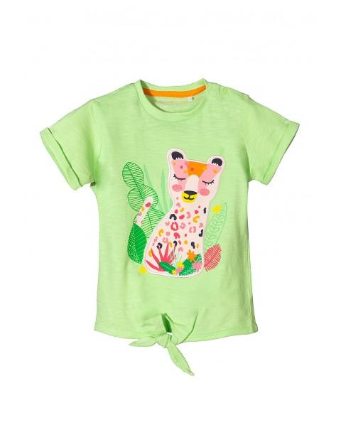 Koszulka zielona dla niemowlaka