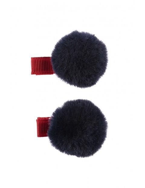 Spinki do włosów 2szt- granatowe