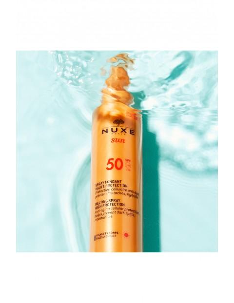 NUXE SUN Mleczko do opalania do twarzy i ciała (w sprayu) - wysoka ochrona  SPF50 150 ml