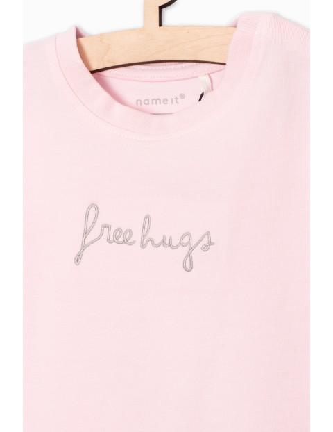 Dzianinowa bluzka dla niemowlaka- różowa