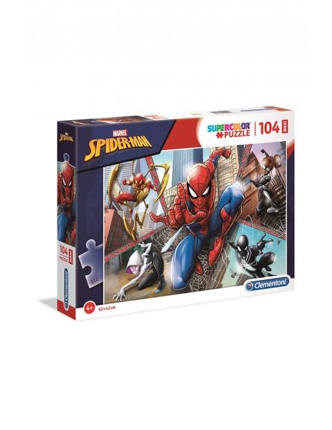 Puzzle Maxi Super Color Spiderman  - 104 elementy wiek 4+