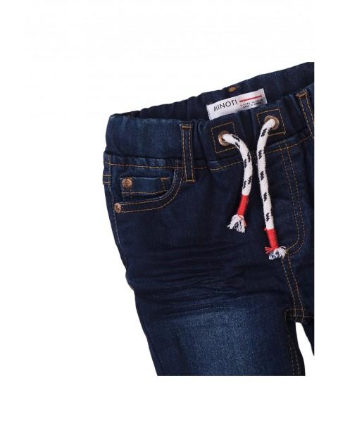 Spodnie chłopięce jeansowe granatowe