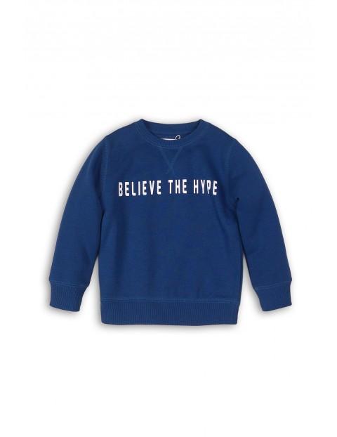Cienka bluza dresowa dla chłopca- granatowa
