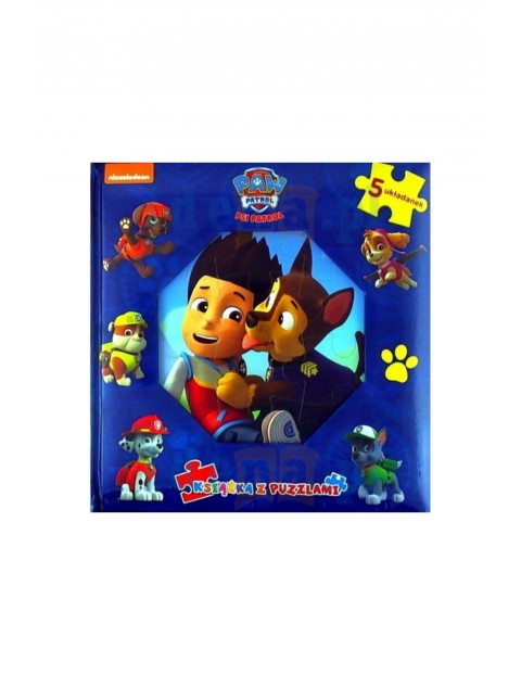 Książeczka Psi Patrol. Książka z puzzlami. Ryder i Chase.