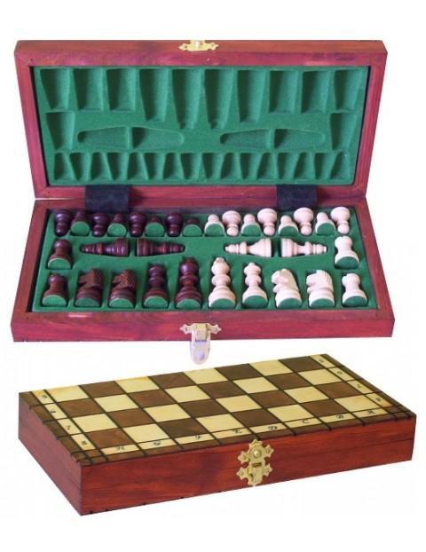Filipek drewniane szachy turystyczne