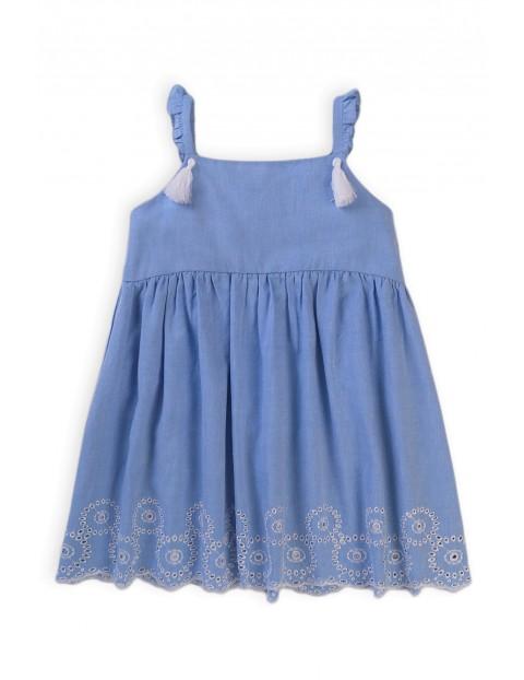 Bawełniana sukienka niemowlęca z ozdobnym wzorem