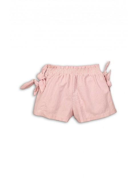 Szorty dla niemowlaka - różowe w białe paski