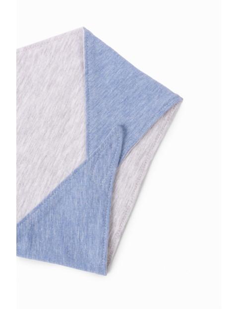 Chustka dziecięca pod szyję - niebieska- Słodziak