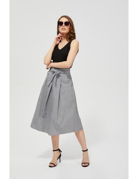 Spódnica damska bawełniana w kratkę biało-czarna
