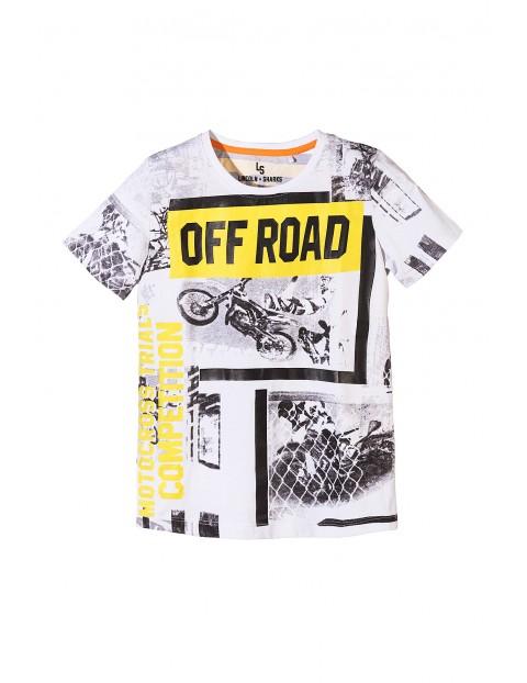 T-shirt chłopięcy w motocykle