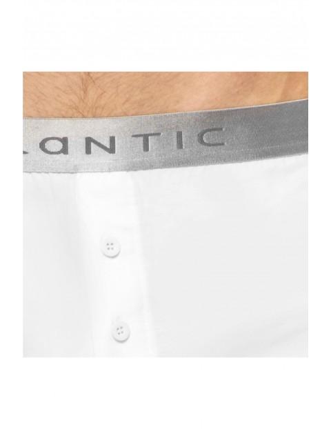 Bokserki męskie o luźnym fasonie Atlantic- białe