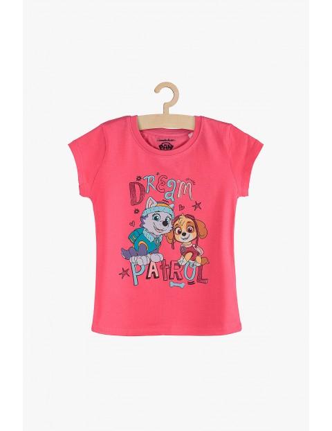 T-Shirt dziewczęcy Psi Patrol różowy