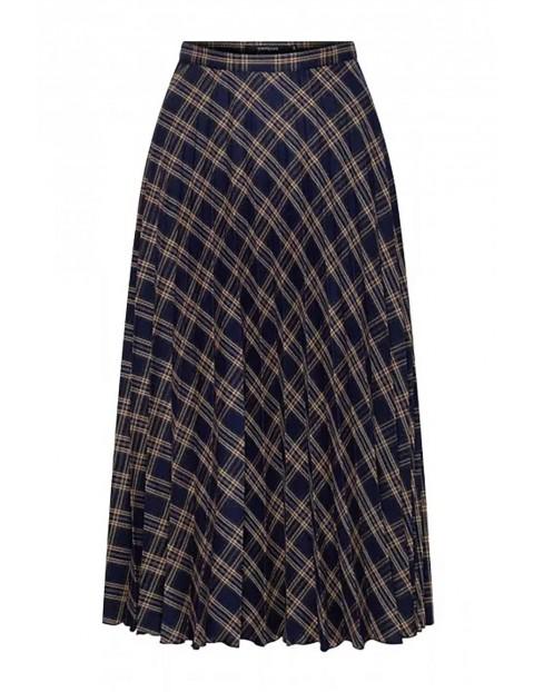 Plisowana spódnica w kratkę