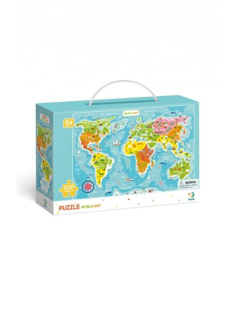 Puzzle Mapa Świata - 100 el wiek 5+