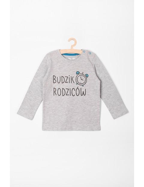 Bluzka niemowlęca z napisem-Budzik rodziców