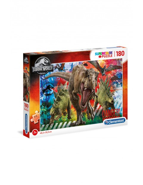 Puzzle  Super Color Jurassic world  - 180 elementów wiek 7+