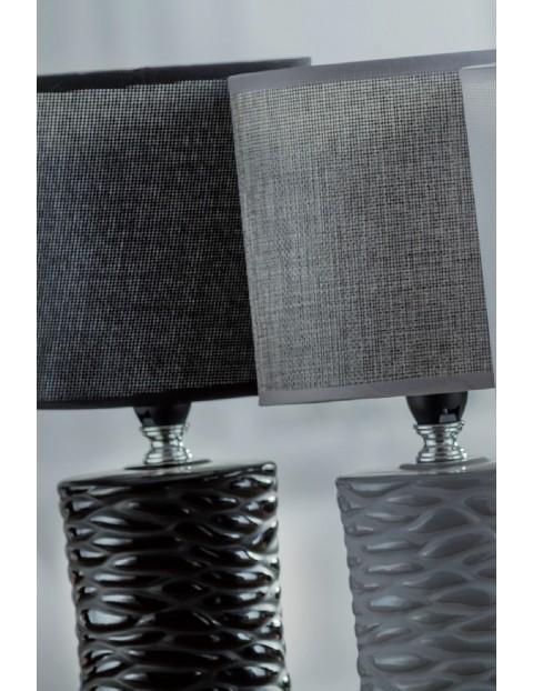 Lampa z ceramiczną podstawą - szara