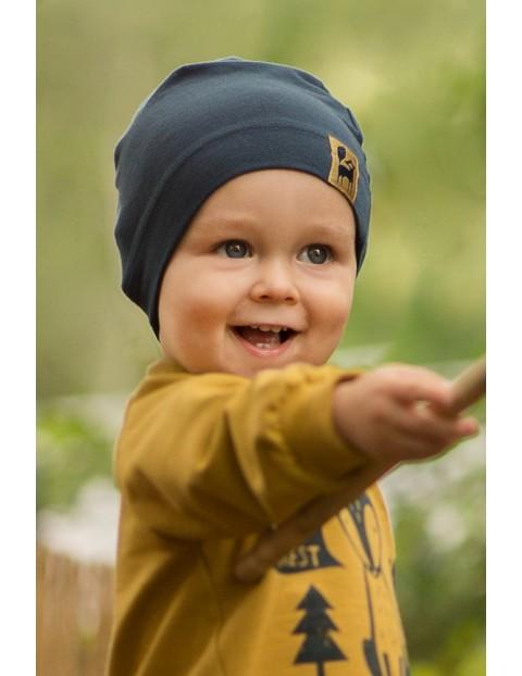 Czapka przejściowa dla niemowlaka Secret Forest granatowa