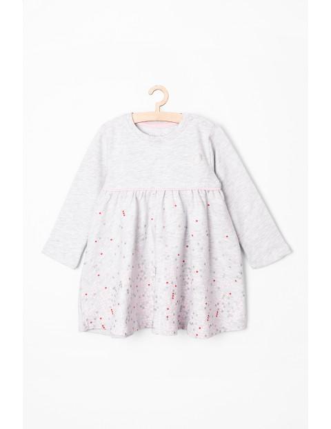 Sukienka dla niemowlaka -  w serduszka