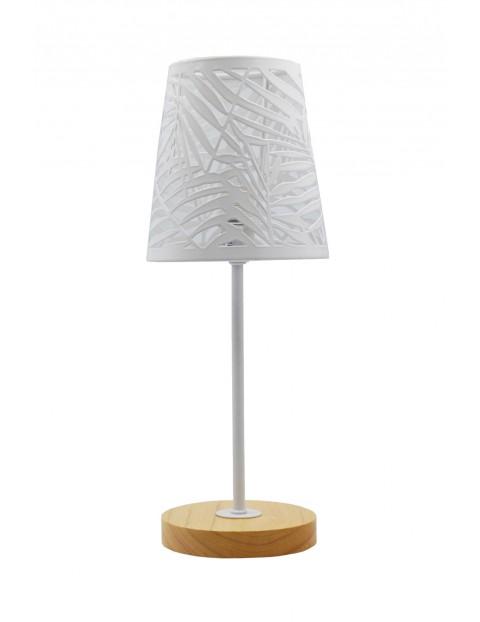 Lampa stołowa z metalowym kloszem