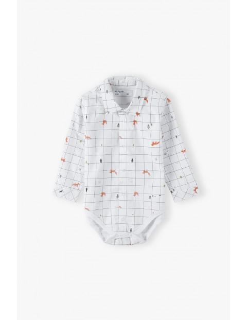 Koszulowe body niemowlęce z długim rękawem