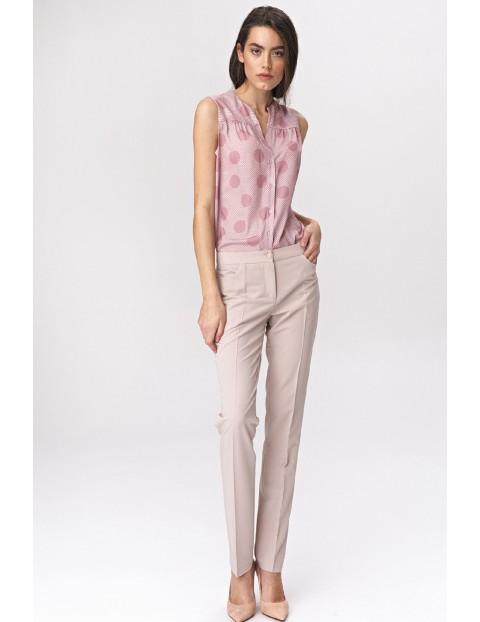 Spodnie damskie jasnobeżowe