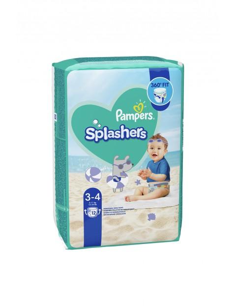 Pampers Splashers, Rozmiar 3-4, 12 jednorazowych pieluch do pływania