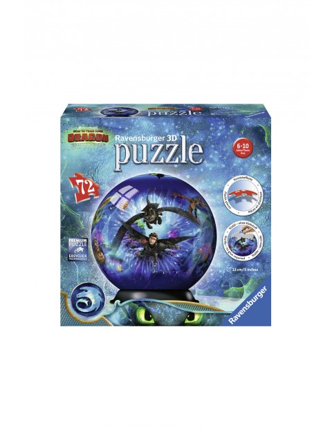 Puzzle 3D Kula Jak wytresować Smoka 3 - 72 elementy