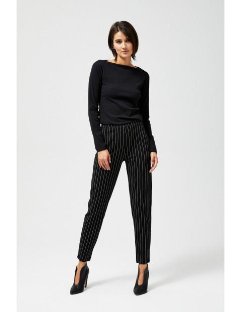 Spodnie damskie czarne w paski