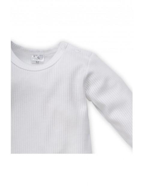 Body niemowlęce z długim rękawem białe