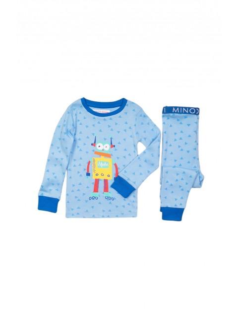 Pidżama niemowlęca niebieska - Robot