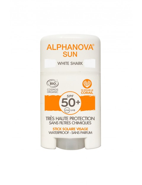 Krem w sztyfcie do twarzy z filtrem Alphanova SPF50+ -  12g