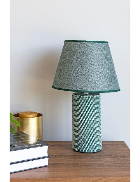 Lampa stołowa z podstawa ceramiczną NOLAN, wys 39 cm