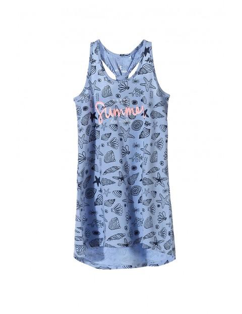 Sukienka na lato- niebieska w muszelki