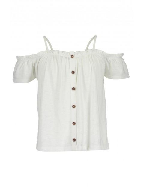 Bluzka hiszpanka dla dziewczynki- biała
