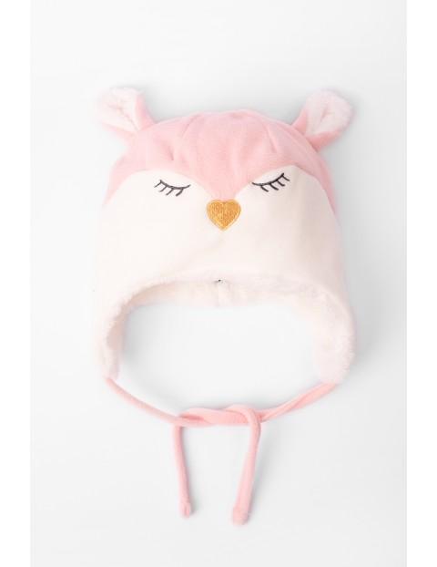 Zimowa czapka dla niemowlaka- wiązana pod szyją