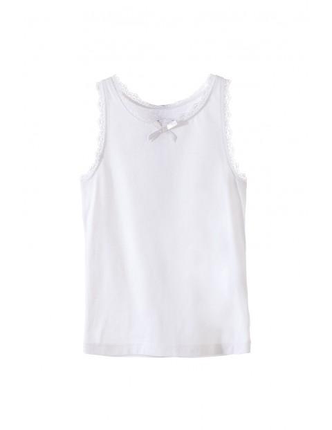 Podkoszulek dziewczęcy biały 3W3407