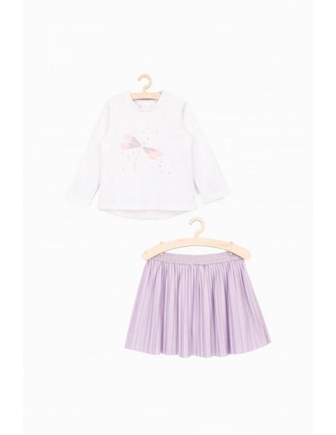 Komplet dla dziewczynki- bluzka i spódniczka