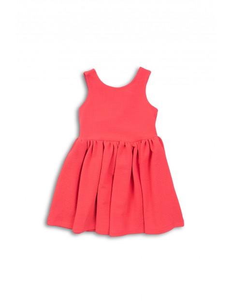 Sukienka czerwona na grubych ramiączkach