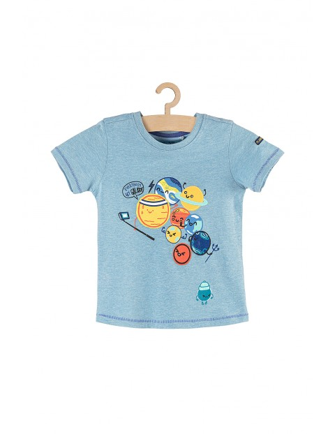 T-shirt chłopięcy z planetami