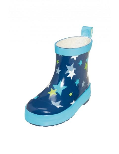 Kalosze dla dziecka- niebieskie w gwiazdki