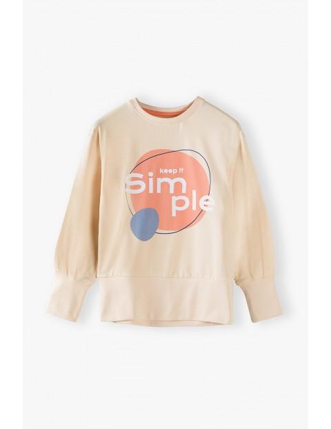 Bluza dziewczęca z napisem Simple
