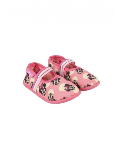 Kapcie dziewczęce Minnie - różowe