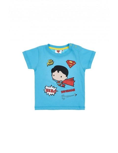T-shirt niemowlęcy niebieski Superman