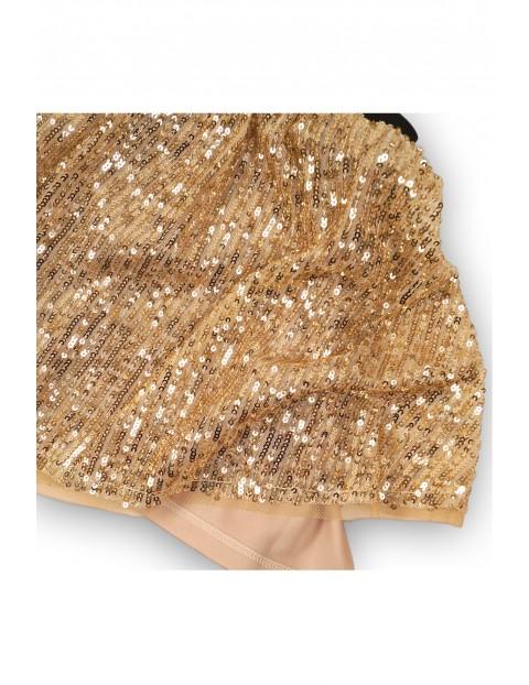 Spódnica dziewczęca ze złotymi cekinami