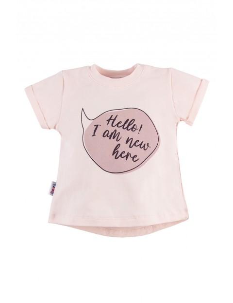T-shirt dziewczęcy SWAN różowy