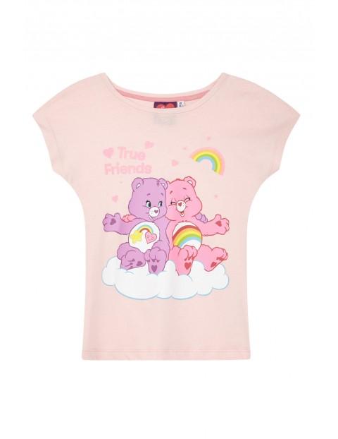 Koszulka dziewczęca Troskliwe Misie-różowa